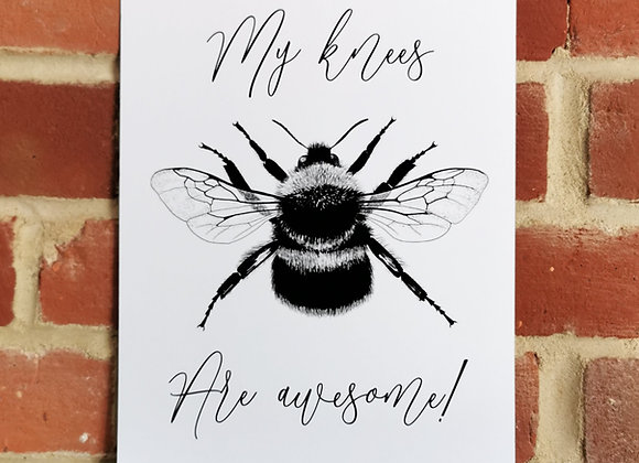 'Bee's knees' print