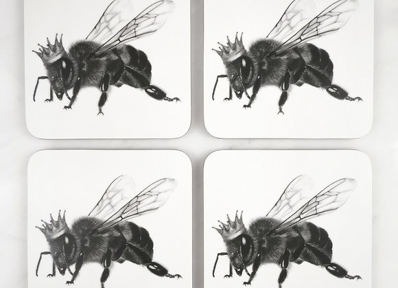 Set of 4 Queen Bee Coasters