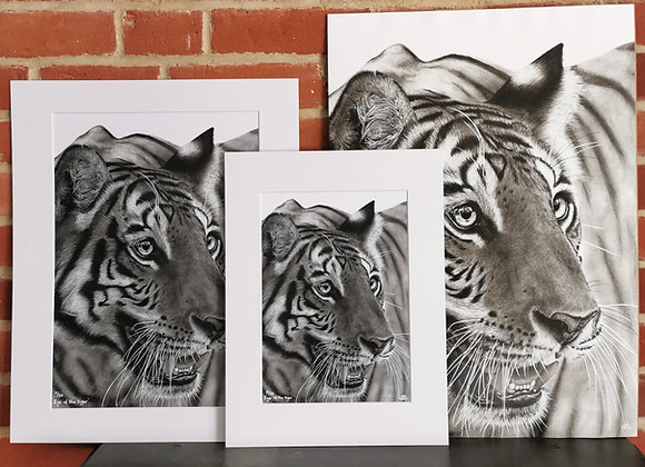 'Eye Of The tiger' print