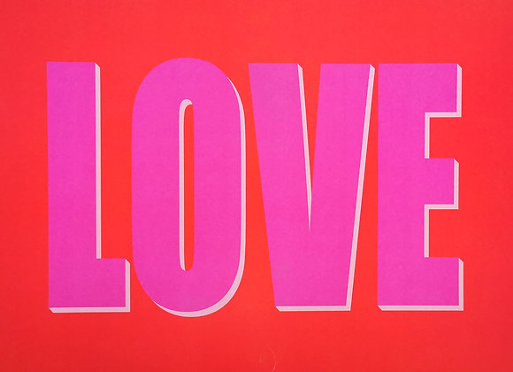 LOVE pink/red