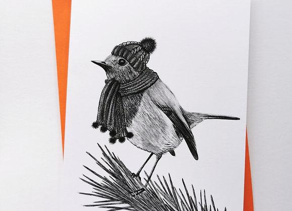 'Cosy Robin' card
