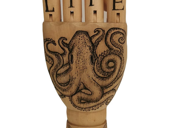 Sea Life wooden hand