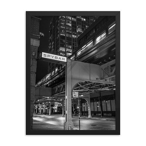 Spybar Chicago - B&W Signage - Matt Reeves - % of proceeds go to the artist
