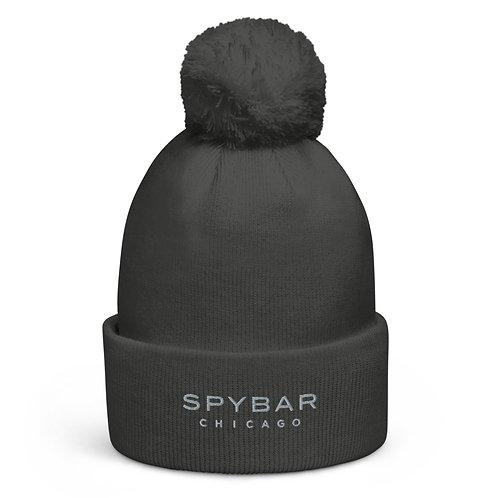 Spybar Chicago - Embroidered 3D Logo - Pom pom beanie