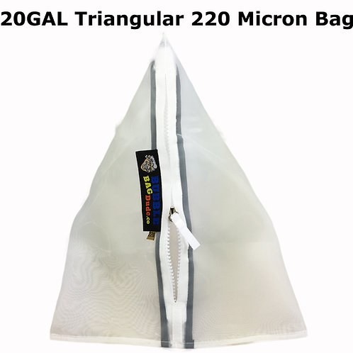 BUBBLEBAGDUDE 20 Gallon Triangular Bag 220 Micron Zipper