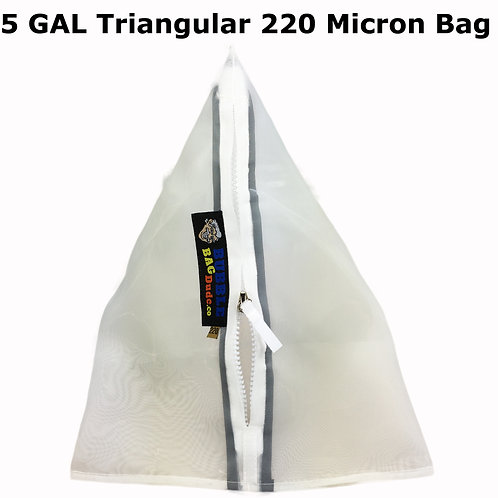 BUBBLEBAGDUDE 5 Gallon Triangular Bag 220 Micron Zipper Bag