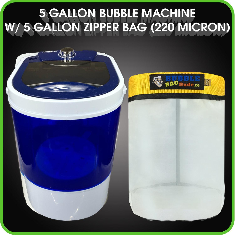 Herbal Extraction Bubble Machine w// Zipper Bag