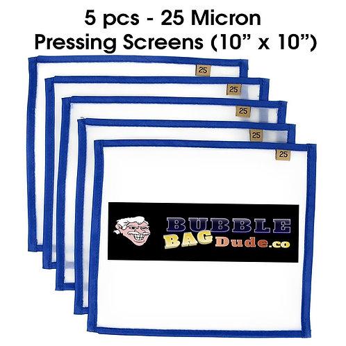"BUBBLEBAGDUDE Pressing Screen (5 Pack of 25 Micron) 10"" x 10"""