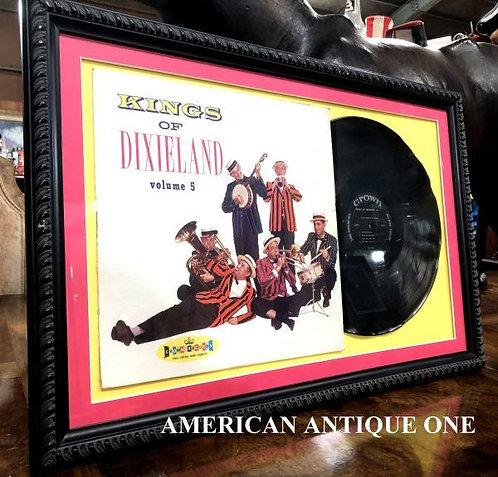 大型65cm キングズ・オブ・デキシーランド ヴォリューム5 レコード 額入り 壁掛けOK!! USA直輸入