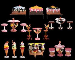 アイスクリーム テーブル