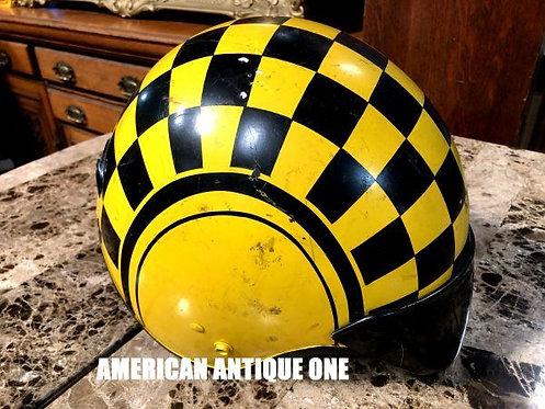 アメリカン・スタイルに^^ スネル ヘルメット ブラック × イエロー プラスチック製 USA直輸入