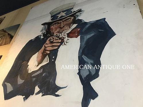 Uncle Sam paint sign 222 cm x 122 cm