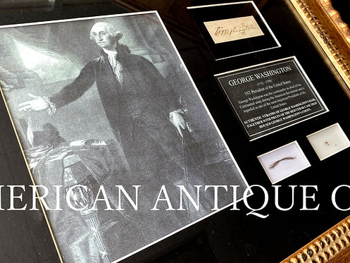 George Washington / Hair Lock & casket