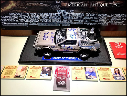 Back to the Future / DeLorean Autographed