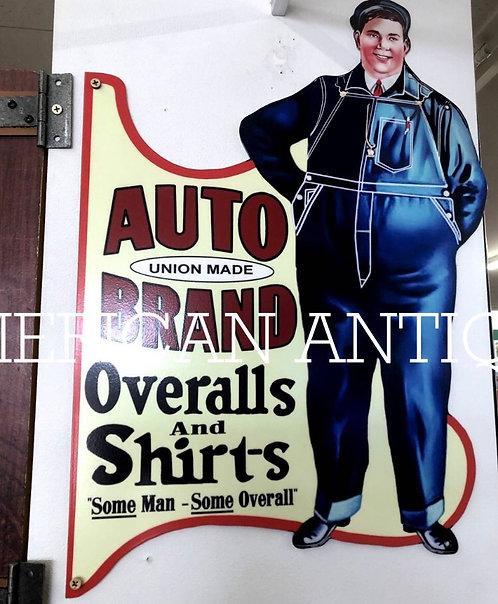 Auto Brand Overalls Shirt Sign