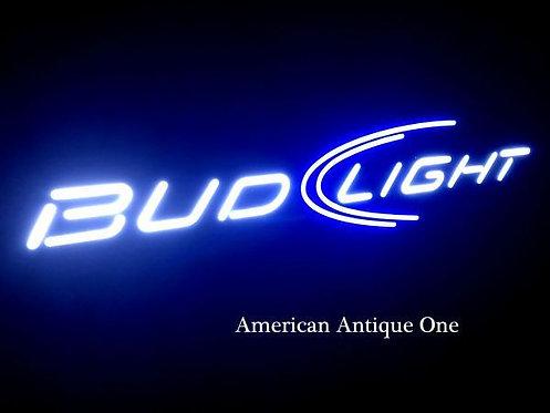 ブルーライトがカッコいい!!文字は白でお洒落★大型124cm バドライト / BUDLIGHT ネオン