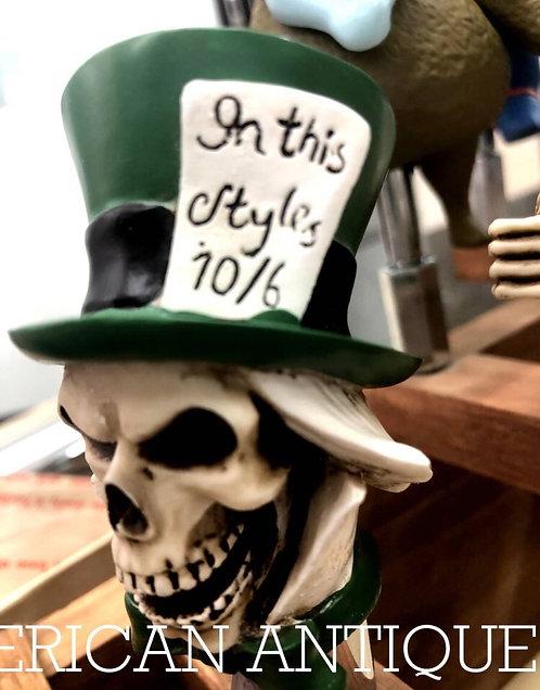 Alice  in wonderland Hattoya skull  Beer Server Knob
