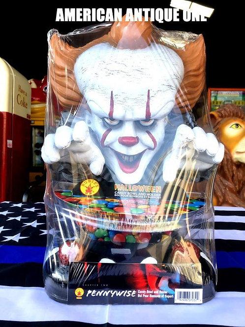 新品未開封 大きめ37cm ペニーワイズ / IT アメリカンキャラクター★キャンディーボール ルービーズ 発泡スチロール製