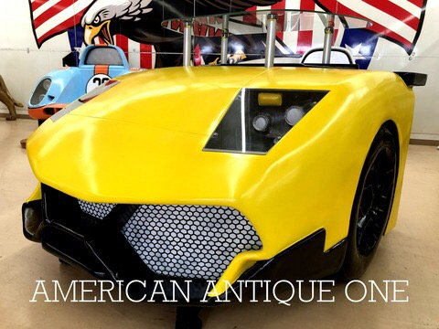 Super car / counter desk yellow
