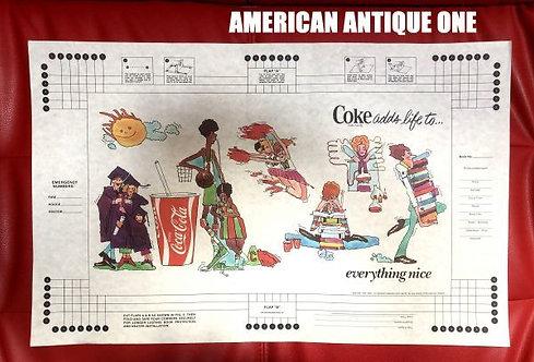 アメリカ・コカコーラ 非売品 大型56cm ペーパー ブックカバー USA直輸入