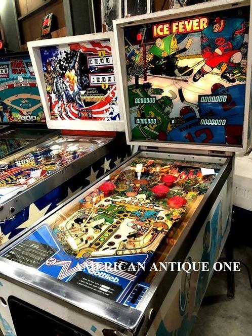 1985年 遊べる!! USAピンボールマシーン アイスフィーバー プレミア / ゴットリーブ社 デジタル文字盤