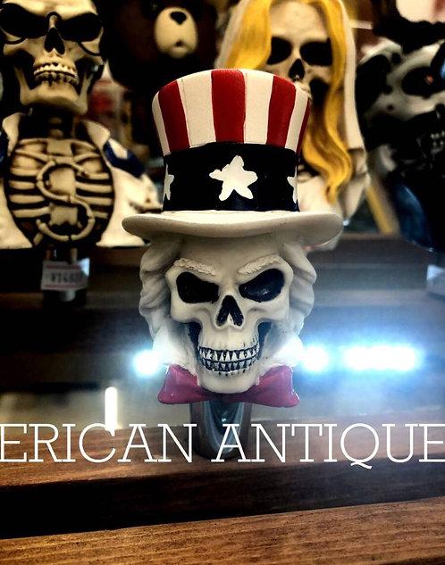Uncle Sam Skull Beer Server Knob