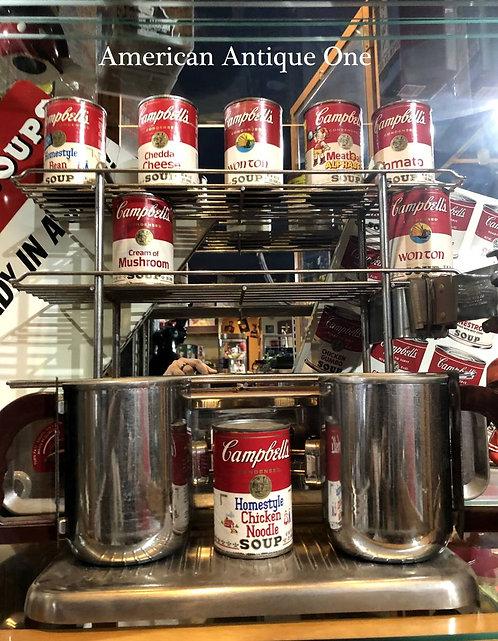 キャンベルスープ缶8個付^^ 非売品 大型47cm キャンベルスープ 本物!! 製造セット ヴィンテージ