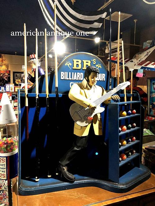 CA州 キュー8本付き 田舎町プールバーに飾られていた 大型 ビリヤード ディスプレイ 114cm