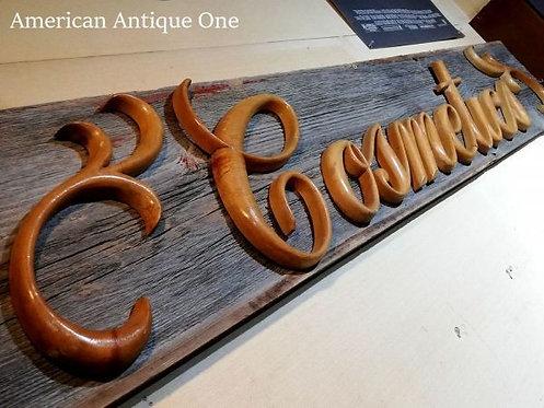 Cosmetics wooden sign 183 cm