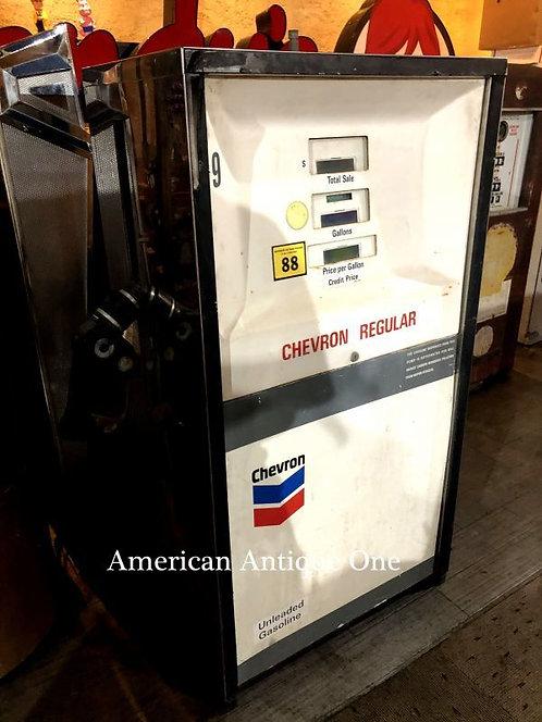 大型129cm 非売品 本物 シェブロン / CHEVRON ガソリンポンプ アメリカンヴィンテージ USA直輸入