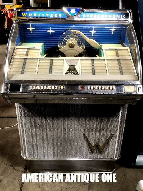 1959年 ワーリッツァ社 激レア!! 美しいロイヤルブルーパネル ジュークボックス ヴィンテージ USA直輸入