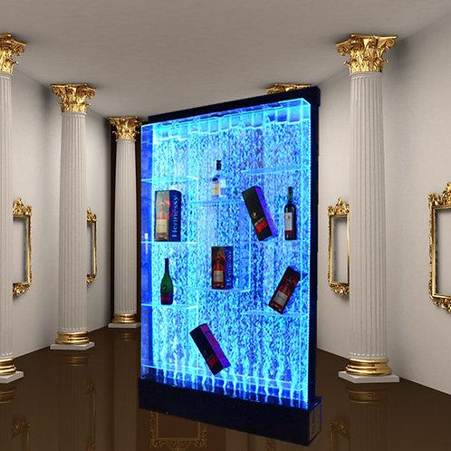 アクアバブルウォール 飾り棚 新品未開封 カラーバリエーション豊富なLEDライトで光る!! 存在感抜群 200cm×125cm