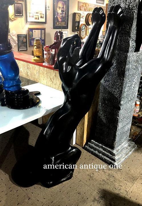 カッコいい!! 巨大168cm 黒豹 / ブラックパンサー モニュメント 自立OK USA直輸入