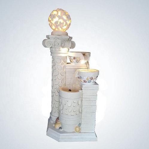 高級感溢れるデザイン 新品 大型158cm 噴水 レジン、サンドストーン製 癒しのサウンド 循環ポンプ ライトアップ 室内外利用OK