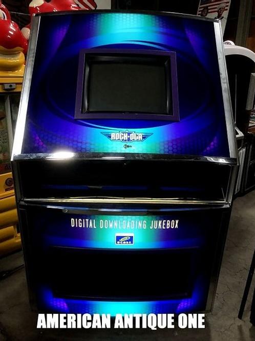 ブルーのデザインがとてもカッコいい★ ロッコーラ社 デジタルジュークボックス 鍵付き USA直輸入