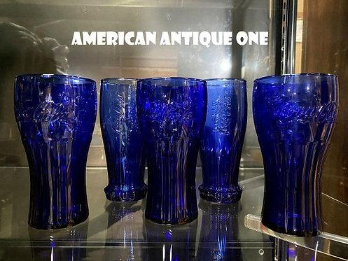 FIFAワールドカップ2010 コカ・コーラ×マクドナルド 記念グラス & ブルー コカ・コーラグラス お得なグラス5点セット