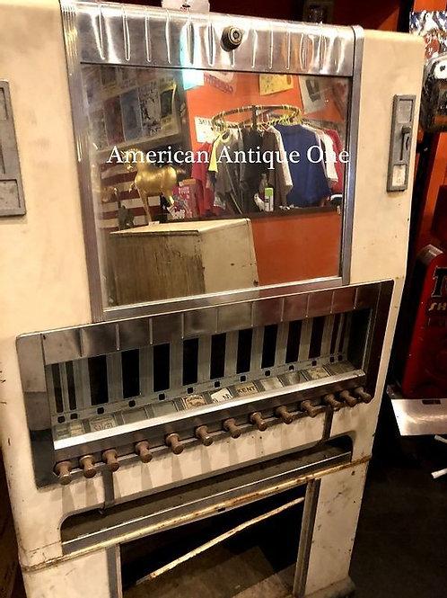 大型154cm USAタバコ アメリカンヴィンテージ自販機 ニケルダイムクォーター社 鍵付  USA直輸入