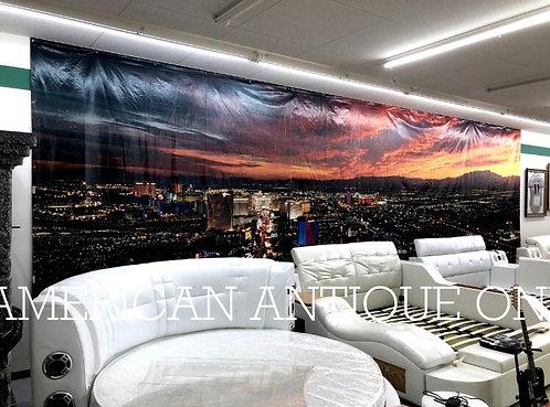 Las Vegas Main Street Night View / curtain