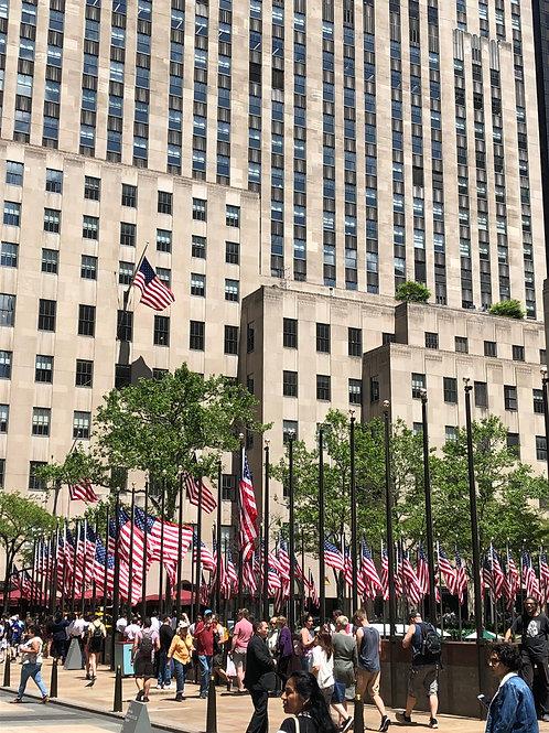 ビルとアメリカ国旗