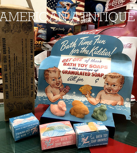 1940s baby bath soap / store display