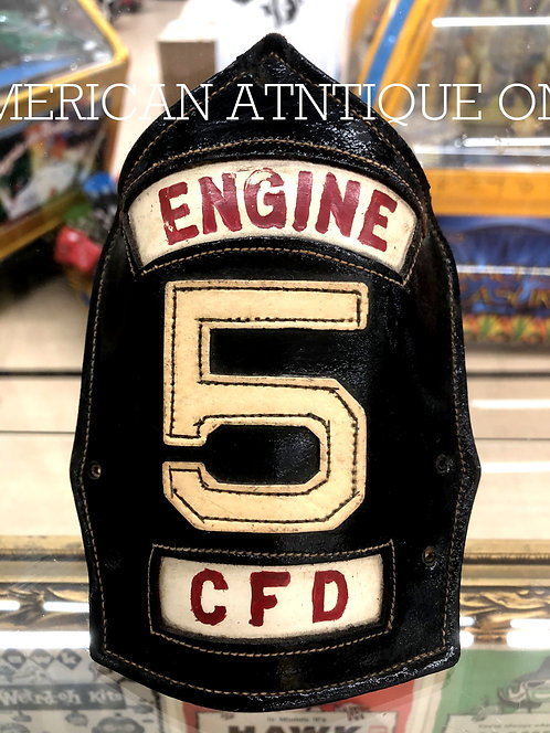 Helmet Leather Front Shield / USA Firefighter CFD