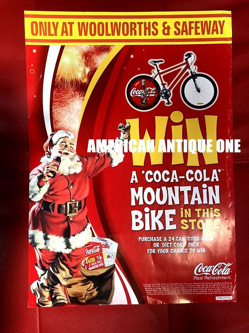 アメリカ・コカコーラ 非売品 2004年 大型42cm オリジナルデザイン自転車 キャンペーン広告 USA直輸入