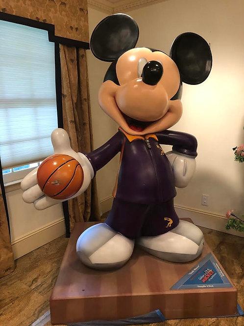 """ウルトラレア!! 等身大ミッキーマウス / """"シャキール・オニール""""デザイン 世界でたったひとつ!! 75周年記念フィギュア!!"""