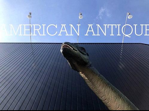 話題・集客抜群のデカさ 圧巻 高さ約4m 全長7.5m ブラキオサウルス 叫ぶ、動く…!! センサー&リモコン操作 恐竜 等身大フィギュア