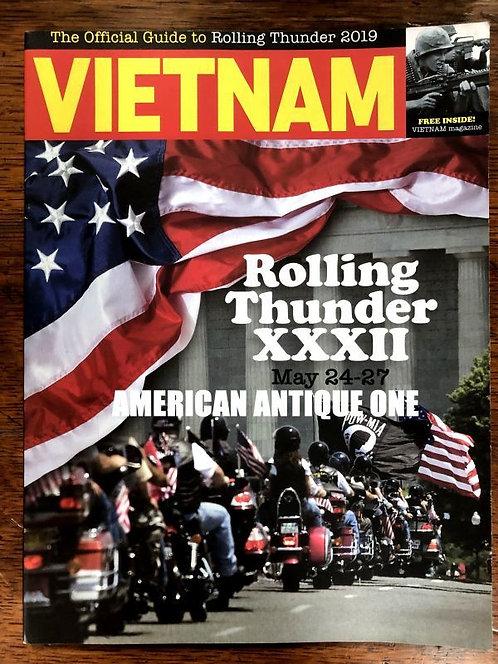 2019年 ローリング・サンダー バイクの大行進 ガイドブック ベトナム戦争 戦没将兵追悼記念日(メモリアルデー) USA直輸入