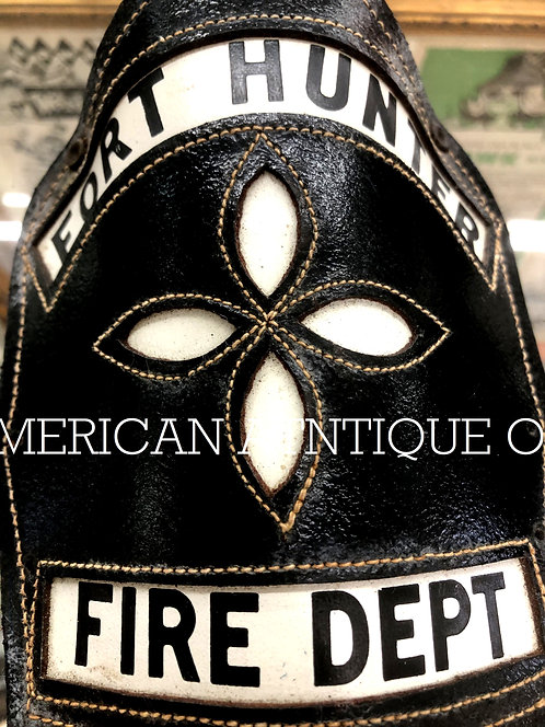Helmet Leather Front Shield / USA Firefighterm