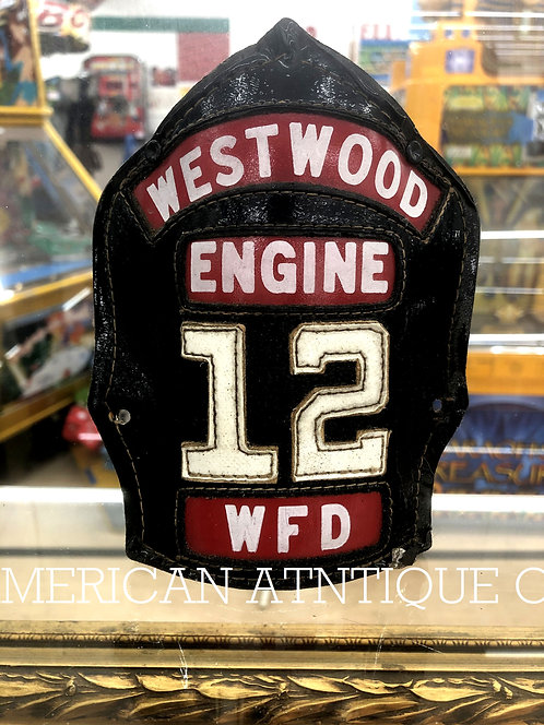 Helmet Leather Front Shield / USA Firefighter WFD