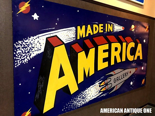 迫力!!大型244cm 木製看板★アメリカン・アーティストペイント 世界にひとつ☆