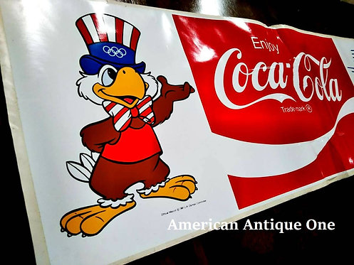 1984 Coca-Cola Official Sticker at the 1984 Los Angeles Olympics