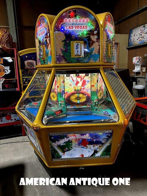 遊べる カジノ・ラスベガス コイン落とし USAアーケードゲーム 点灯OK!! USAラウンドワン キャスター付き